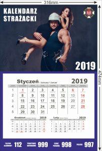 kalendarz strażacki z wyrywką