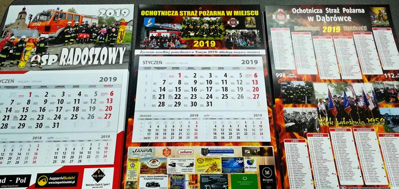 Kalendarze strażackie realizacje
