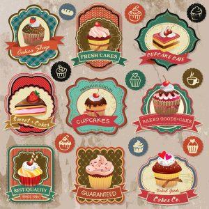 Naklejka ciastka